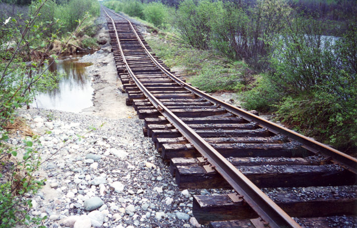 Subsidence of railroad embankments